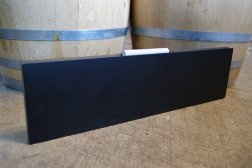 Chalkboard Plank Menu Board (Black)