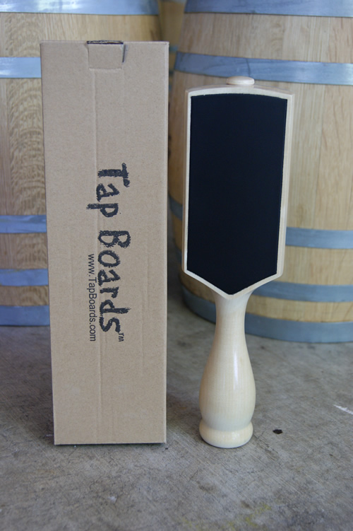 Dual Sided Chalkboard Tap Handle - Maple - Click Image to Close