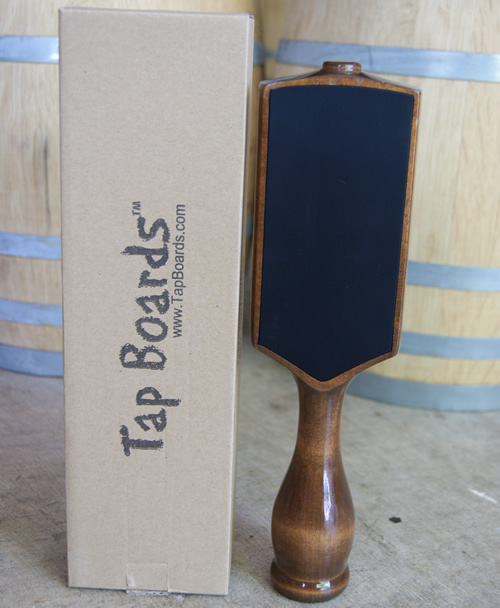 Dual Sided Chalkboard Tap Handle Tap Board - Walnut