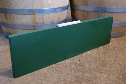 Chalkboard Plank Menu Board (Green) - Click Image to Close