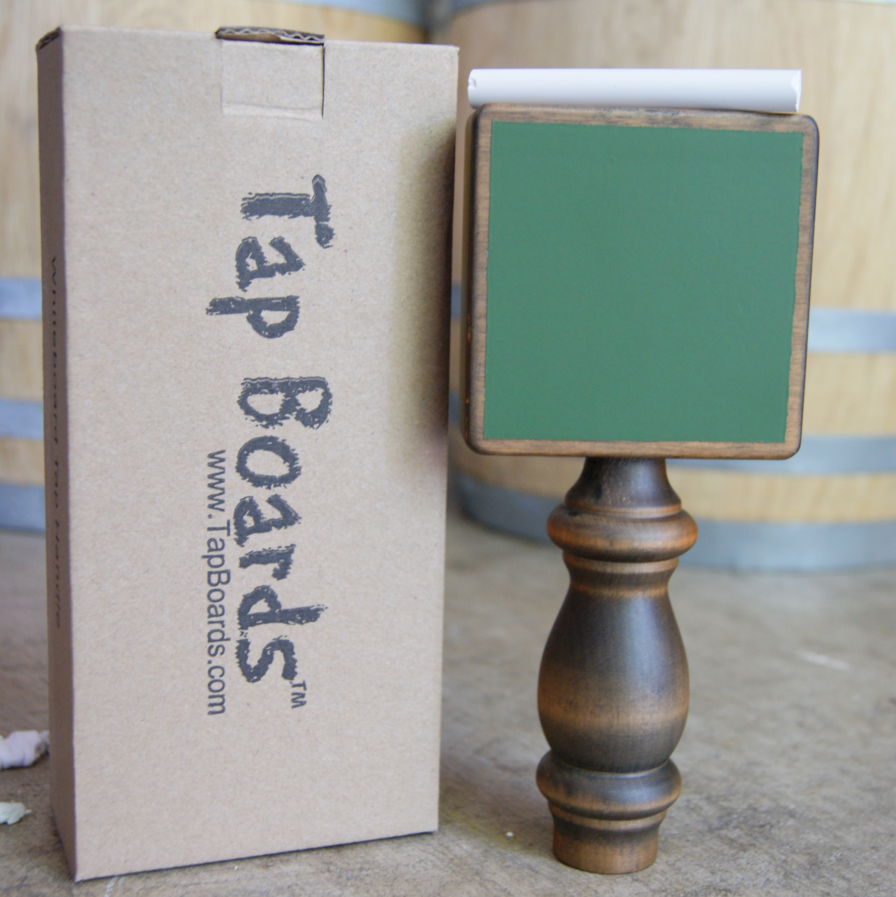 Vintage Green Chalkboard Tap Handle - Click Image to Close